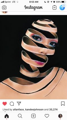 Amazing art or by mimles Makeup Fx, Scary Makeup, Body Makeup, Beauty Makeup, Makeup Eyeshadow, 3d Fantasy, Fantasy Makeup, Unique Makeup, Creative Makeup