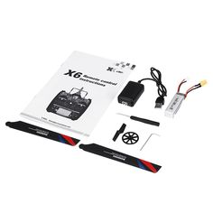 xk k130 2.4g 6ch brushless 3d6g system flybarless rc helicopter rtf compatible with futaba s-fhss Sale - Banggood.com Rc Helicopter, Bnf, Remote, Hobbies