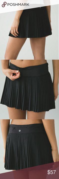 NWT Lululemon 'Pleat to Street' Skort Woven for strength and no-bulk performance?Swift Ultra fabric is sweat-wicking, four-way stretch and durable  durable no-bulk performance woven for strength four-way stretch sweat-wicking LIGHT LUXTREME?  This wide comfortable Light Luxtreme? fabric waistband lies flat under your top  comfortable easy to layer cool smooth handfeel naturally breathable LIGHT LUXTREME?  Built-in Light Luxtreme? fabric liner is sweat-wicking, four-way stretch and fits like…
