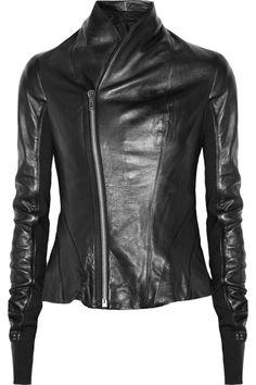 RICK OWENS  Princess leather jacket