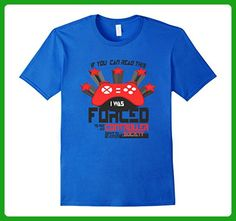 Mens Video Games Funny Forced to Re-Enter Society Gamer Tee Small Royal Blue - Gamer shirts (*Amazon Partner-Link)