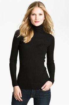 Vince Ribbed Turtleneck available at #Nordstrom