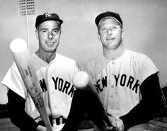 Yankee legends Joe DiMaggio & Mickey Mantle