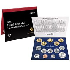 Coin Set: 2012 United States Mint Uncirculated Coin Set In Original Government Packaging