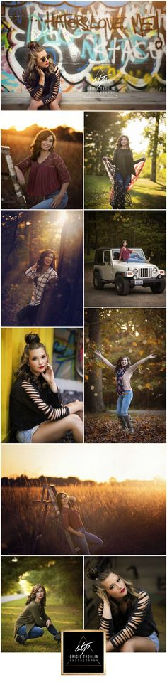 Senior Pictures / Senior Girl / Urban / Country / Golden Hour / Sunset / Jeep / Graffiti / American Flag / Bricie Troglia Photography / www.bricietrogliaphotography.com