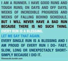 Every chance you get to run is a gift