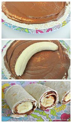 Λαχταριστό σοκολατένιο μπουρίτο μπανάνας - Aspa Online