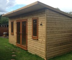 16x9ft Tanalised Loglap Insulated Garden Building-Gym-Summerhouse-Garden Office
