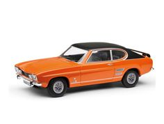 This Ford Capri Mk I 1600 GT XLR Diecast Model Car is Orange and features working wheels. It is made by Vanguards and is 1:43 scale (approx. 9cm / 3.5in long).  ...