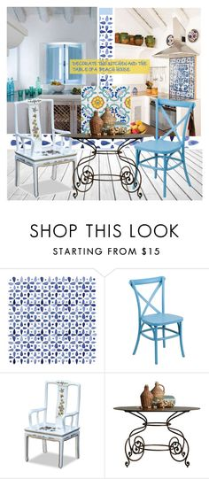 """""""DECORATE THE KITCHEN AND THE TABLE OF A BEACH HOUSE"""" by nicolevalents ❤ liked on Polyvore featuring interior, interiors, interior design, home, home decor, interior decorating, Artistica and kitchen"""