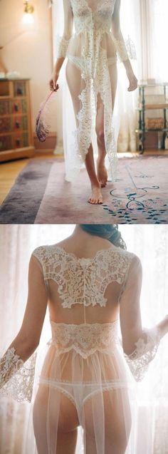 lingerie kimono for honeymoon, kebaya inspired.
