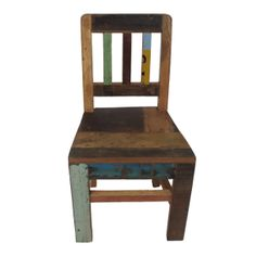 Kinderstoel massief sloophout