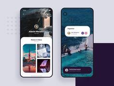 Social Meet Up UI Kit - Motion & Product design designed by Aurélien Salomon ➔ for Orizon: UI/UX Design Agency. Connect with them on Dribbble; Ui Design Mobile, App Ui Design, User Interface Design, Interface App, Layout Design, Dashboard Design, Web Layout, Flat Design, Design Design