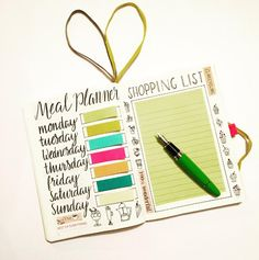 This meal planner that is straight up a work of art, tbh:   29 Bullet Journal Layouts For Anyone Trying To Be Healthy