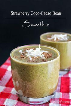Strawberry Coco-Cacao Bean Smoothie #SundaySupper