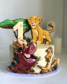 Toddler Birthday Cakes, Lion King Birthday, Baby Boy 1st Birthday, Birthday Cake Girls, Birthday Ideas, Girl Party Foods, Lion King Party, Lion King Baby Shower, Lion King Cakes