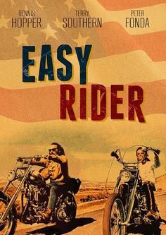 Jack Nicholson - Movie poster - Illustration art - Easy Rider by Dennis Hopper Biker Movies, Cult Movies, Film Gif, Film Serie, Classic Movie Posters, Movie Poster Art, Cinema Posters, Concert Posters, Dennis Hopper Easy Rider