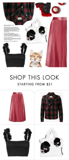 """Untitled #424"" by craftsperson ❤ liked on Polyvore featuring Gucci, WithChic, Alice + Olivia, Alexander McQueen and fauxfur"