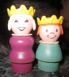 Fisher Price Little People Wood Queen and Princess by Artsefrtse, $22.00