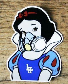"Sticker "" Oh Blanche "" - Digital Arts ©2015 by DAVID KARSENTY -                                                                                            Pop Art, Street Art (Urban Art), Comics, Cinema, Pop Culture / celebrity, Graffiti, david karsenty, so cult, blanche-neige, pop-art, street-art, pop-culture, pop, street-culture, stickers, art du sticker, le havre"