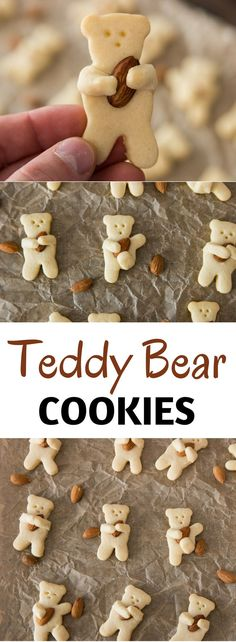 Teddy Bear Cookies recipe uses only 3 ingredients. You will have so much fun cook this easy recipe! Teddy Bear Cookies!