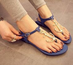 Nauty Anchor Sandals