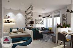 Фото дизайна интерьера однокомнатной квартиры