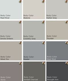 benjamin moore color palette | palette of grey Benjamin Moore Paints / Walls stash - Juxtapost