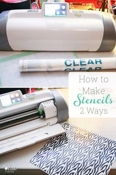 How to make DIY stencils 2 different ways with the Cricut. This method makes it so easy to make custom stencils with either Vinyl or Contact Paper. Cricut Stencils, Custom Stencils, Stencil Diy, Cricut Vinyl, Stenciling, Tattoo Stencils, Cricut Air 2, Cricut Help, Cricut Craft