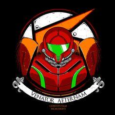 """Bounty Hunter"" by Teeketch is $10 today at ShirtPunch.com (04/13). #tshirt #Metroid #Samus #BountyHunter #Nintendo #VideoGames"