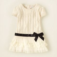 baby girl - cable knit tiered sweater dress | Children's Clothing | Kids Clothes | The Children's Place