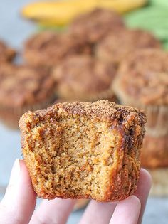These Paleo Pumpkin Banana Muffins are easy to make perfect for fall. A delicious combination of two classic flavors that come together. Gluten free, dairy free, and naturally sweetened. Combining pumpkin and banana makes for Banana Coffee Cakes, Pumpkin Banana Bread, Banana Flour, Pumpkin Coffee Cakes, Ic Recipes, Sweet Recipes, Real Food Recipes, Baking Recipes, Brunch Recipes