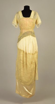 Evening dress ca. 1913From Whitaker Auctions