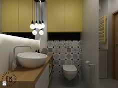 Żółty w łazience - zdjęcie od Femberg Architektura Wnętrz