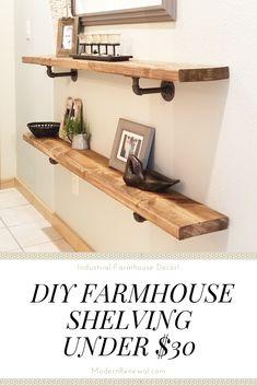 11 best industrial shelving diy images industrial furniture rh pinterest com how to build shelves in a shed how to build a shelves wall