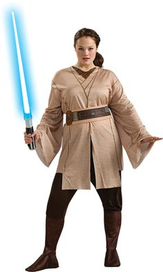 women's costume: star wars jedi knight-plus size