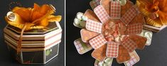 Must try and combine this with the Mickey Mouse Hat top! My Crafty Life...: Octagonal Exploding Box
