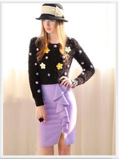 Morpheus Boutique  - Black Floral Knit Soft Long Sleeve Sweater , CA$82.04 (http://www.morpheusboutique.com/black-floral-knit-soft-long-sleeve-sweater/)