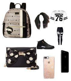 """""""school again"""" by pettyallthe on Polyvore featuring beauty, Boohoo, WithChic, Casetify and Betsey Johnson"""