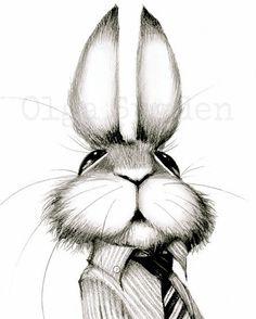 He is the boss rabbit Art Print by vanolga
