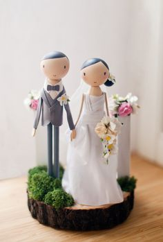 Wedding Cake Topper/Wooden Cake Topper/Rustic Wedding от theroomba