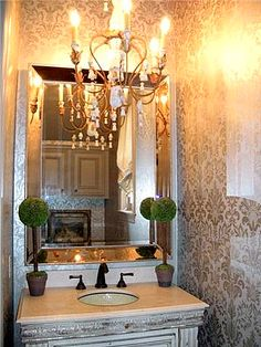Mirror and fixture....love it!