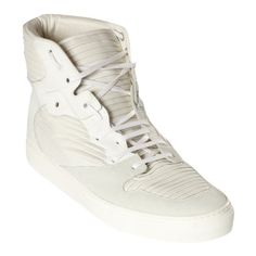new concept 312c8 829d7 Balenciaga Blue and White Pleated Leather High-top Sneakers