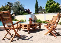 MULHACÉN mesa palets. Mesa realizada con 2 palets europeos reciclados. Precio desde 169€ en www.ecodecomobiliario.com