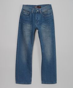 Look at this Seven Souls Light Blue Distressed Jeans - Boys on #zulily today!