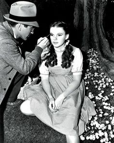 Judy Garland on the Set of Wizard of Oz.