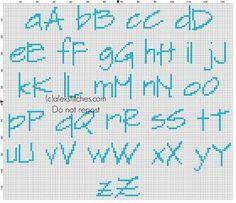 cross stitch pattern alphabet - Google zoeken