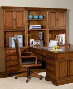 Hartford 6-Piece Peninsula Home Office Furniture Collection - furniture - Macy's