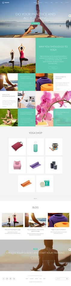 Asana WordPress theme created using HTML5 and CSS3 and is responsive.  It suitable for any type of #Yoga sport and dance studios, gyms, health clubs, event agencies and a lot more. Asana is designed according to the latest trends, fresh colors are used. #website #template