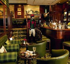 I'd rather be sipping a bourbon in the downstairs portion of the Stable Bar. The Milestone Hotel, London. Fine Hotels, Best Hotels, Stables Bar, Tartan, Plaid, London England, Bourbon, Tweed, Travelling